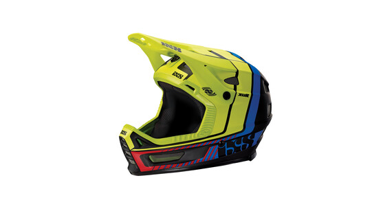 IXS Xult Helmet black/blue/lime